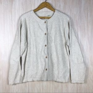 Tommy Bahama Rib Style Elbow Patch Button Cardigan